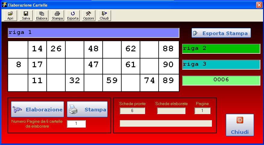 Senasoft software software tombola e bingo ita for Cartelle tombola per anziani